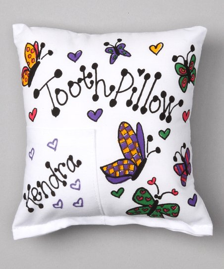Butterfly Personalized Tooth Pillow