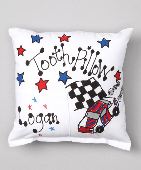 Racecar Personalized Tooth Pillow