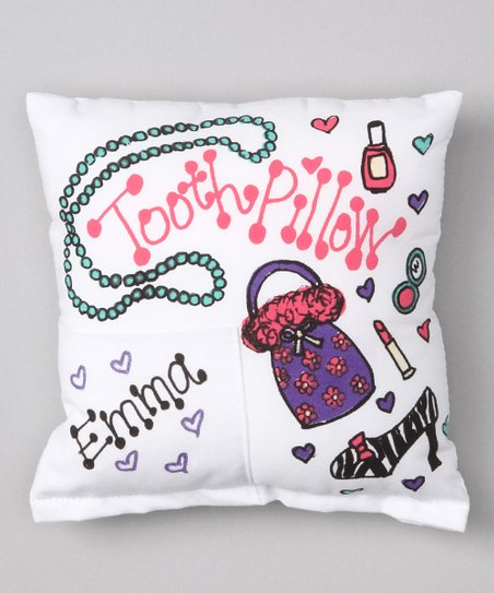 Girly Girl Personalized Tooth Pillow