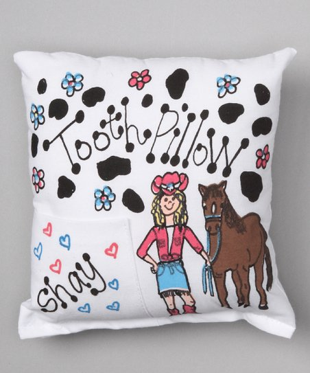 Cowgirl Personalized Tooth Pillow