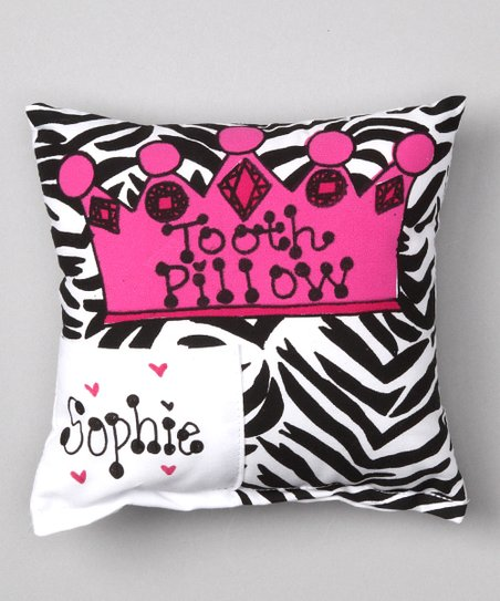 Zebra Crown Personalized Tooth Pillow