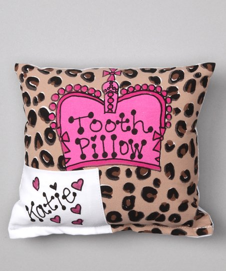 Cheetah Crown Personalized Tooth Pillow