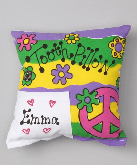 Peace Sign Personalized Tooth Pillow