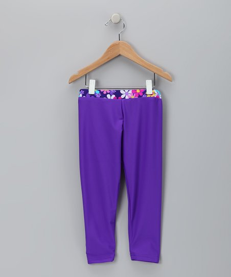 Purple Betsy Leggings - Girls
