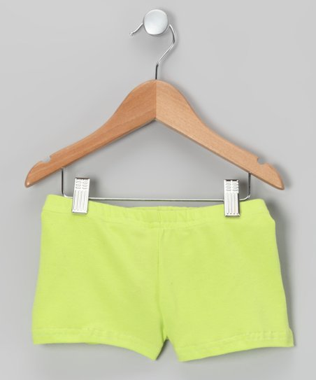 Lime Stretch Shorts - Girls