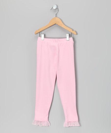 Pink Ruffle Leggings - Girls