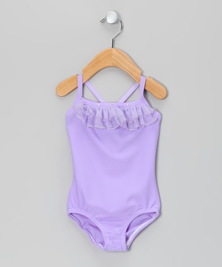 Lavender Ruffle Leotard - Girls