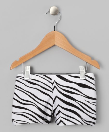 White & Black Zebra Shorts