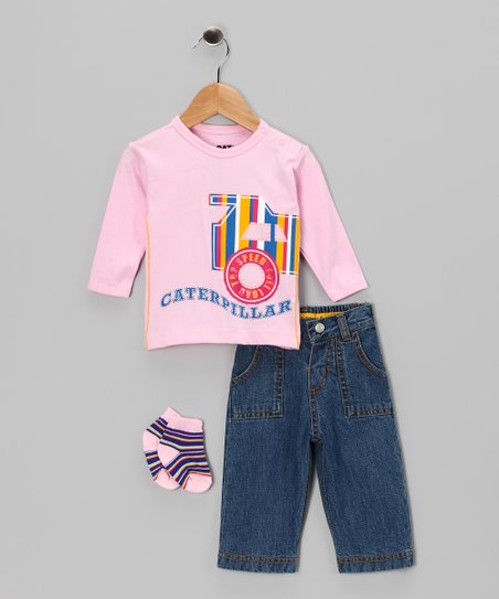 Pink Stripe Tee Set - Infant