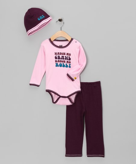 Pink &#039;Watch Me&#039; Bodysuit Set - Infant