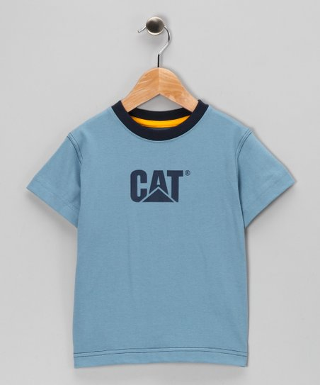 Slate Blue & Navy Logo Tee - Toddler