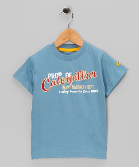 Slate Blue 'Heavy Machinery' Tee - Toddler & Kids