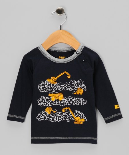 Navy Blue 'Dig Lift Move' Tee - Infant