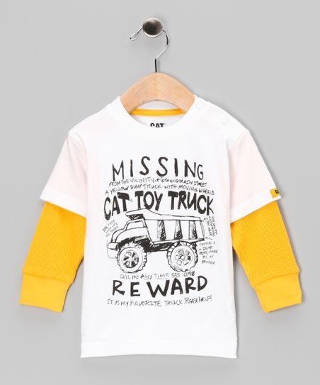 White 'Missing CAT' Layered Tee - Infant