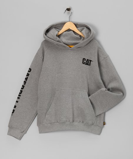 Heather Gray Banner Hoodie - Kids