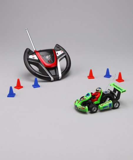 Green Remote Control Go-Kart