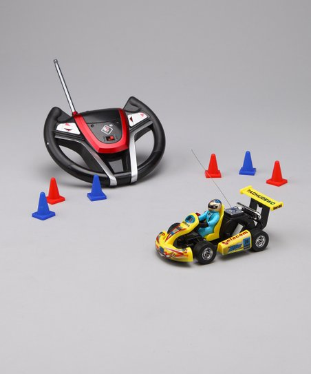 Yellow Remote Control Go-Kart