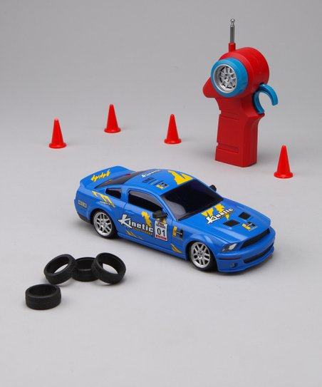 Blue Drift Legends Mustang Remote Control Car