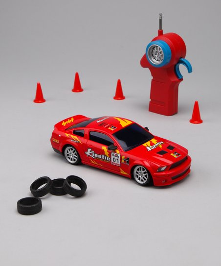 Red Drift Legends Mustang Remote Control Car