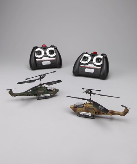 Dark & Light Camouflage Cobra Remote Control Helicopter Set