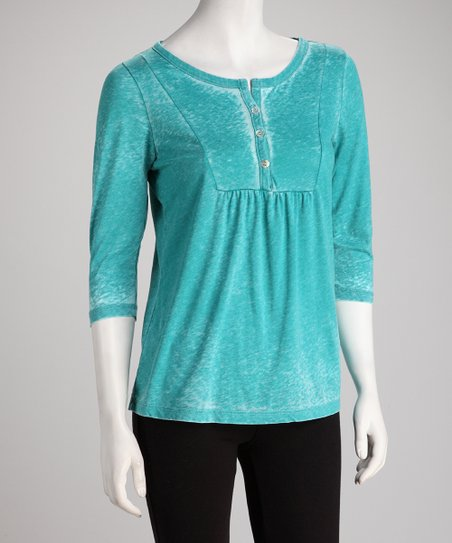 COIN 1804 Peacock Burnout Henley