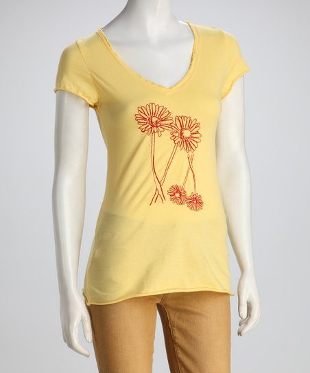 COIN 1804 Yellow Double Daisy Tee