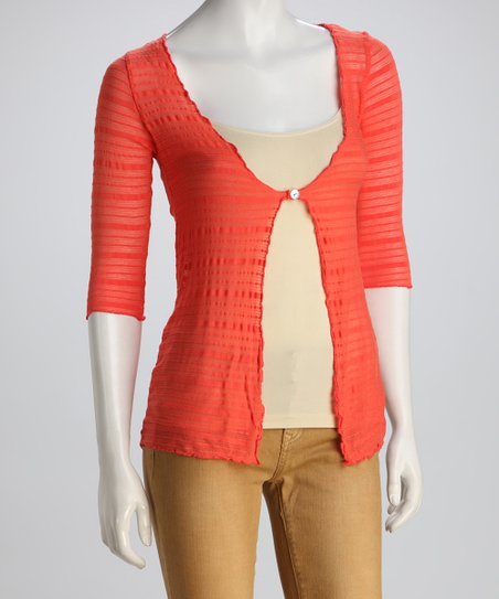 COIN 1804 Coral Stripe Cardigan
