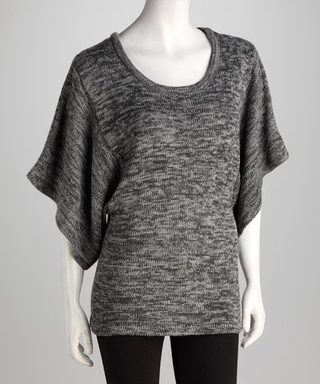 Heather Gray & Charcoal Dolman Sweater