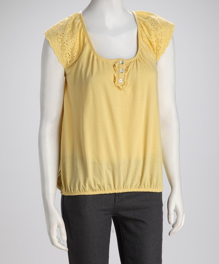 Corn Lace Peasant Top