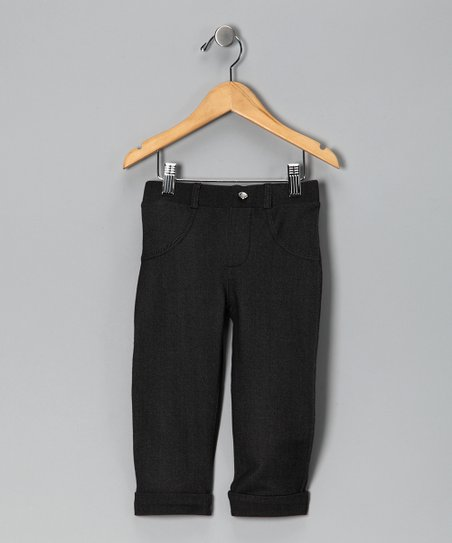 Black Cuffed Capri Pants - Toddler & Girls