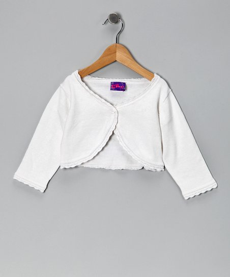 White Bolero - Toddler & Girls