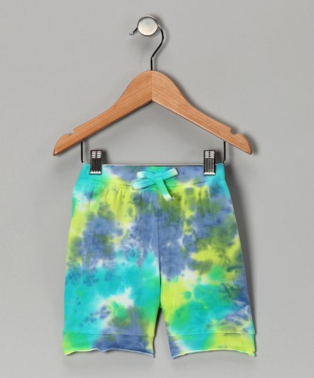 Blue Crush Tie-Dye Bike Shorts - Toddler & Girls