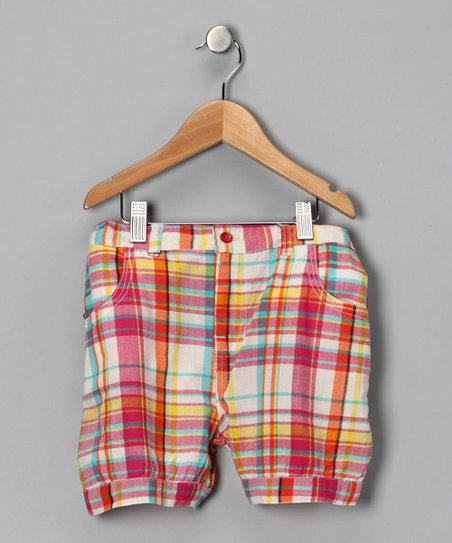 Candy Red Plaid Shorts - Toddler & Girls