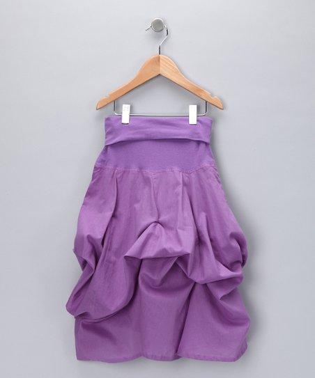 Purple Convertible Ruffle Skirt - Girls