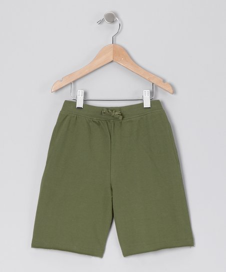 Olive Drawstring Shorts - Infant &amp; Boys