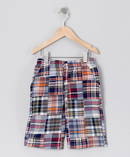 Red &amp; Black Plaid Patch Shorts - Toddler &amp; Boys