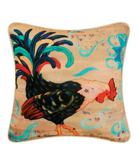 Black Rooster Pillow
