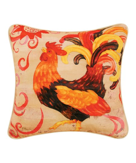 Orange Rooster Pillow