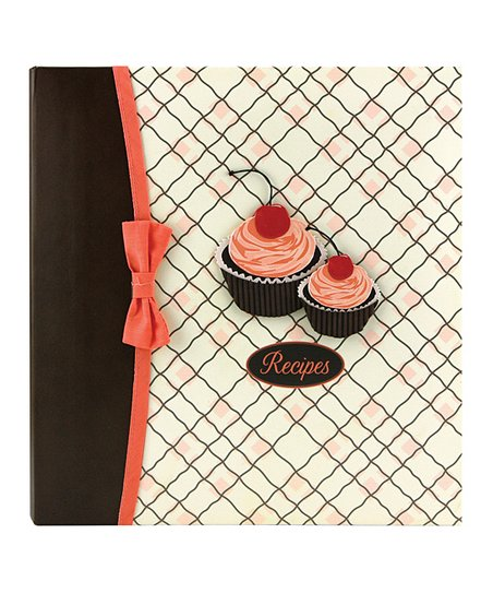 Cherry Cupcakes Deluxe Kitchen & Hostess Binder