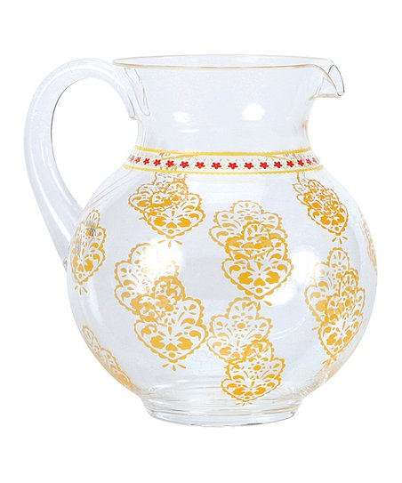 Orange Ikat Acrylic Pitcher