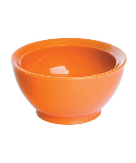 Orange 8-Oz. No-Spill Smart Lip Bowl - Set of Four