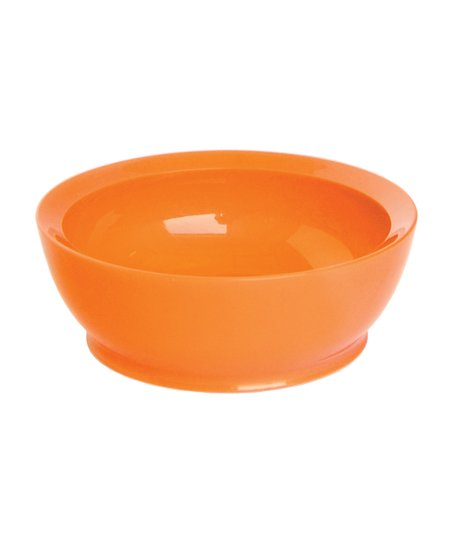 Orange 12-Oz. No-Spill Smart Lip Bowl - Set of Four