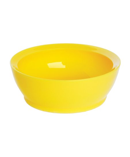 Yellow 12-Oz. No-Spill Smart Lip Bowl - Set of Four