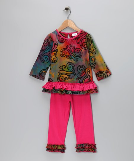 Rainbow Tunic & Leggings - Toddler & Girls