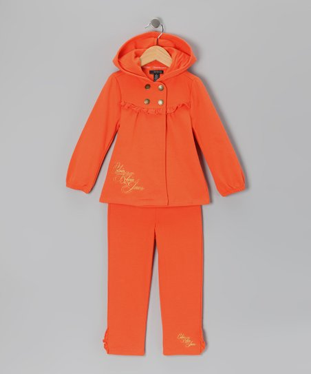 Orange Snap Jacket & Pants - Infant & Toddler