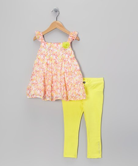 Yellow Floral Tunic & Jeggings - Infant & Toddler