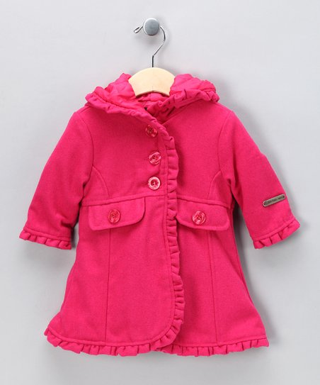 Red Ruffle Coat - Toddler