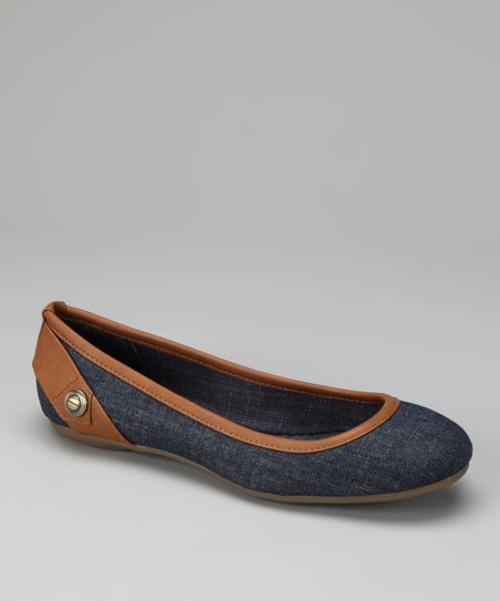 Blue Denim Abagail Ballet Flat