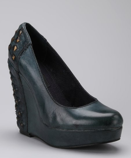 Dark Teal Hillary Wedge