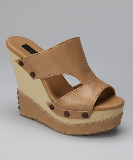 Khaki Bia Wedge Slide